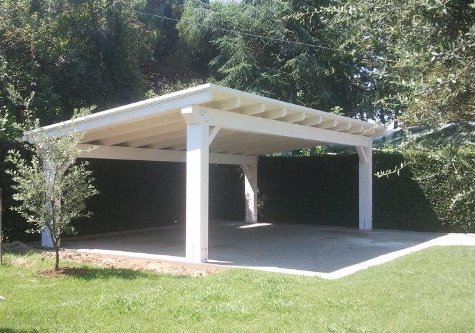 struttura legno patinato bianco