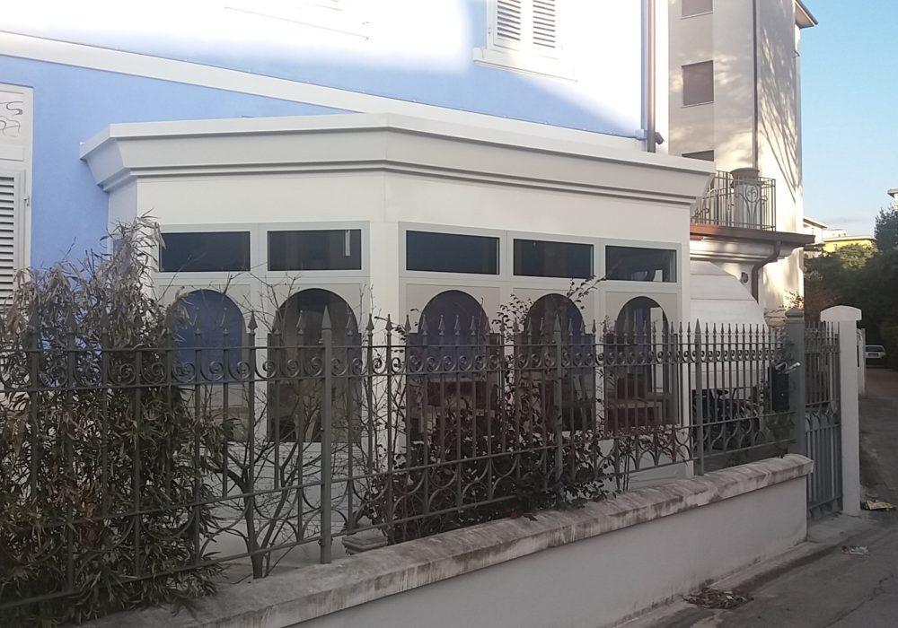veranda alluminio su misura