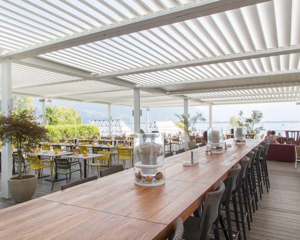 bioclimatica veranda dehor coeprtura lamelle orientabili