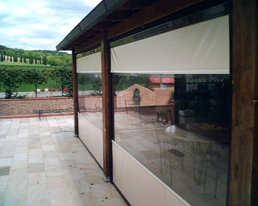 INNIA NEW chiusure perimetrali veranda tenda a caduta