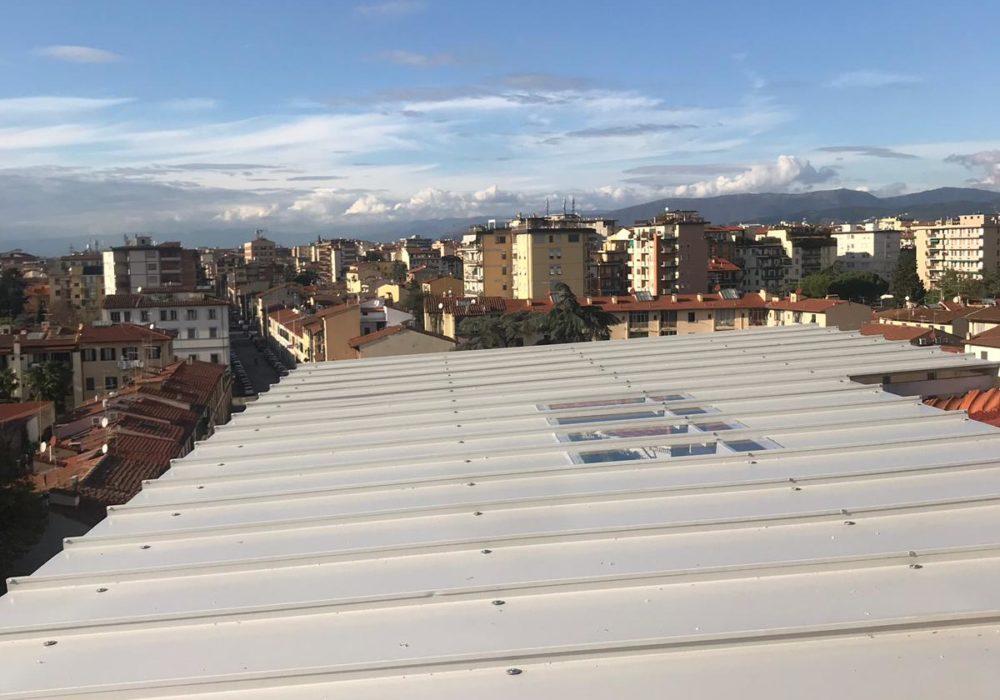 tettoia alluminio policarbonato